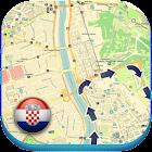 Kroatien offline map & Wetter icon