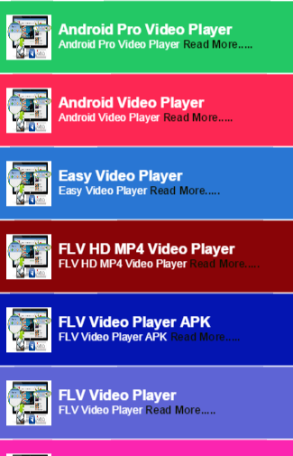 FLV Video Player For Mobile