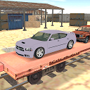 cargo train car transporter 3D