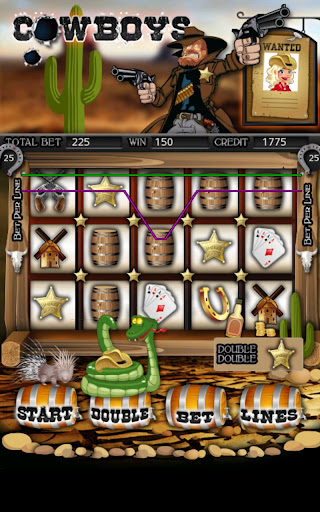 Cowboys Slot Machine HD Screen Capture 1