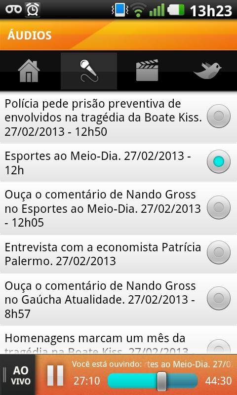 Rádio Gaúcha - screenshot
