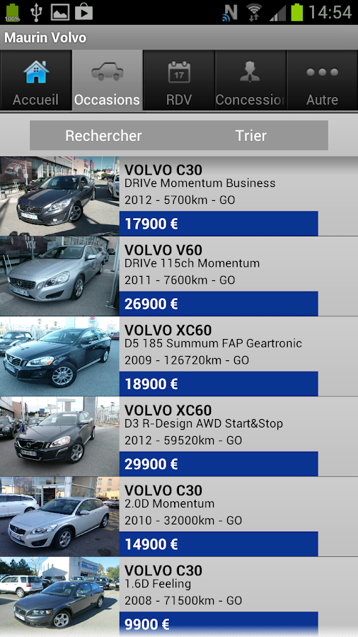 Groupe Maurin Volvo - screenshot