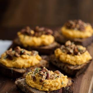 Whipped Goat Cheese Sweet Potato Crostini