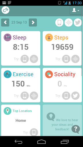 CommonSense Tracker