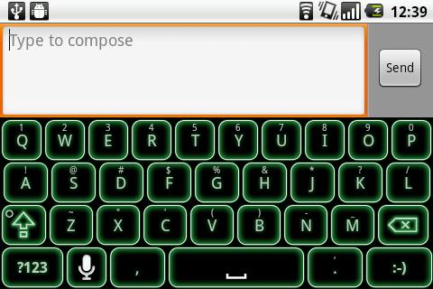 Green Glow Code Keyboard Skin- screenshot