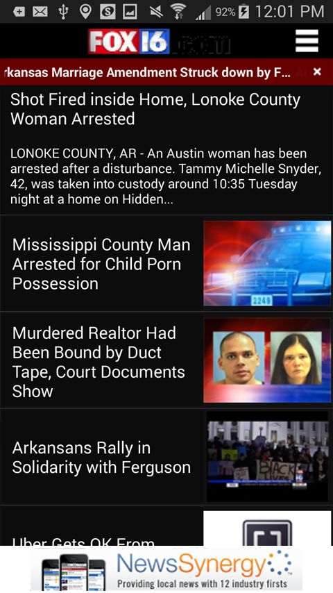 KLRT - FOX16 - screenshot