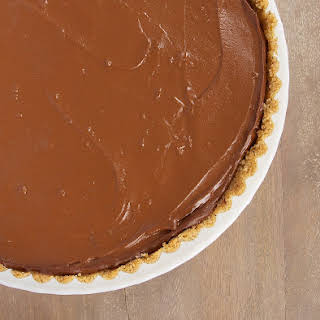 Chocolate Pudding Pie with Peanut Butter Filling.