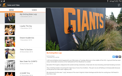 GWS Giants Official App - screenshot thumbnail