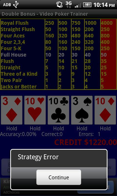 Video Poker Strategy App