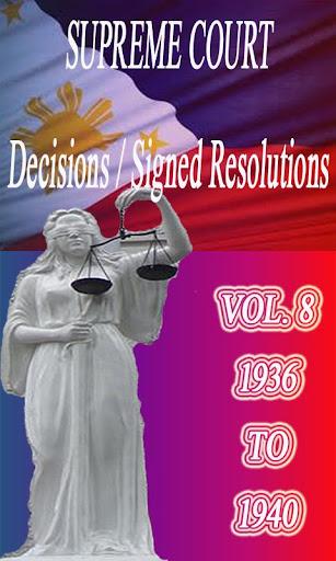 Phil Supreme Court Vol. 8