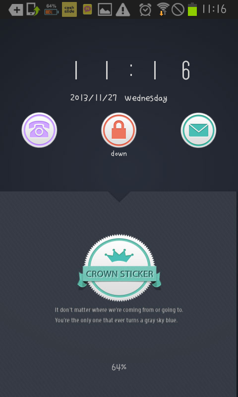Crown Sticker go locker theme- screenshot