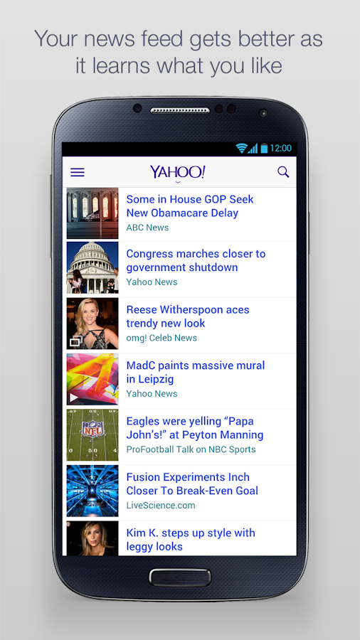 Yahoo - screenshot