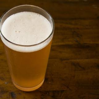 Rhubarb Beer Cocktail.