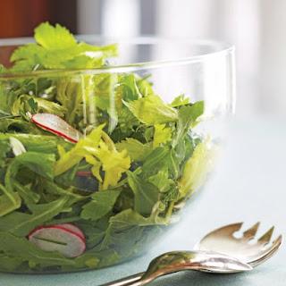 Arugula Salad with Radishes and Caper Vinaigrette