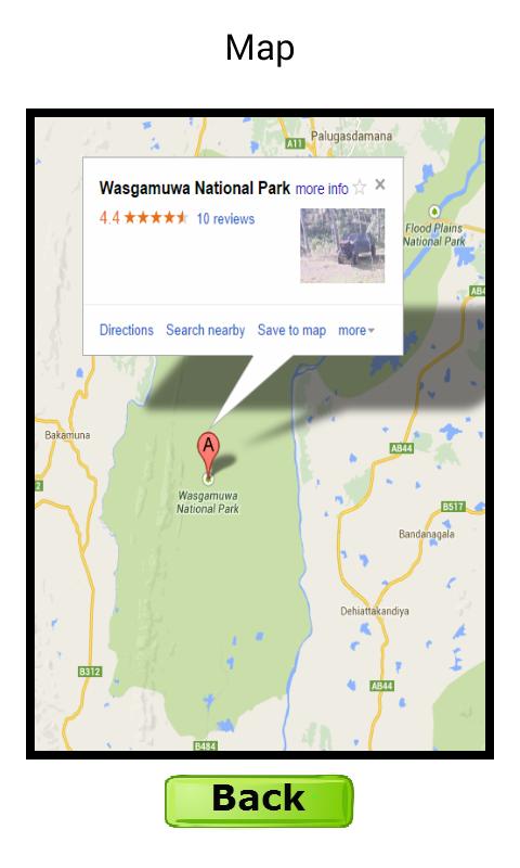 Wasgamuwa National Park Map Wildlife Sri Lanka - W...