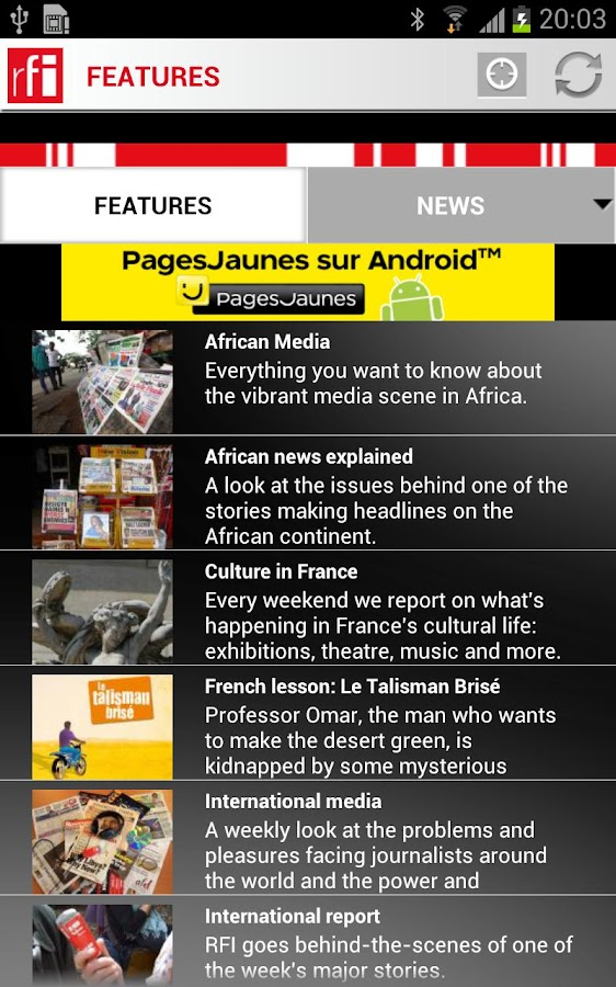 RFI for Android - screenshot