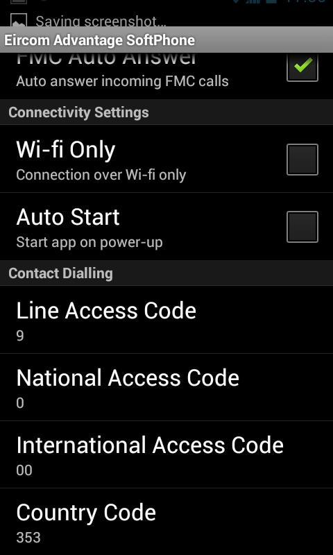 eir Advantage Softphone- screenshot