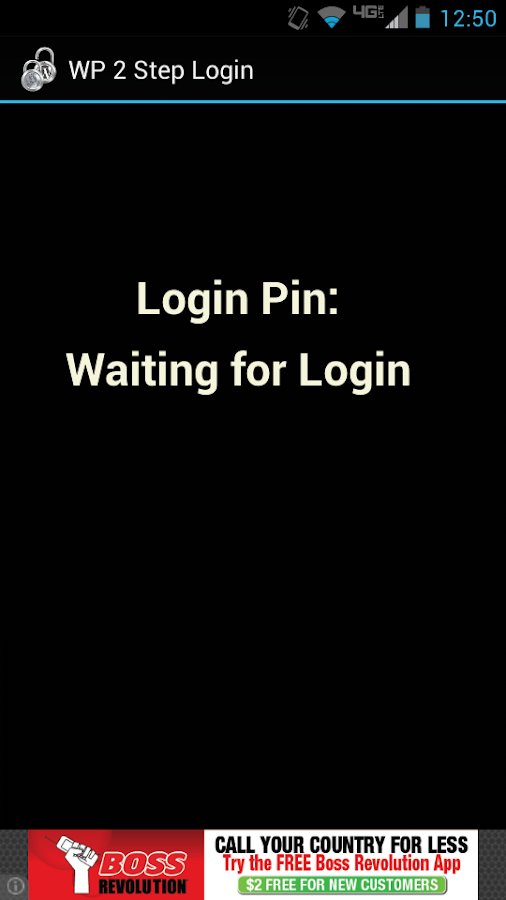 WP 2 Step Authentication- screenshot