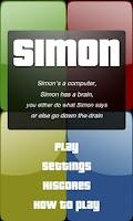 Screenshot of Simple Simon
