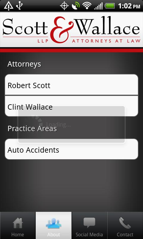 Scott & Wallace - PI Attorneys- screenshot