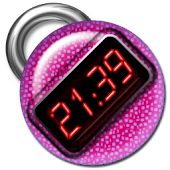 Purple Digital Clock