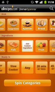 Allrecipes.com Dinner Spinner - screenshot thumbnail