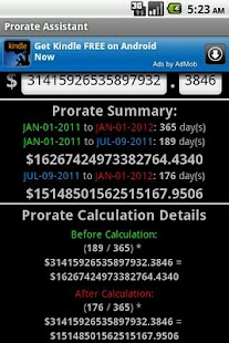 Prorate Assistant - screenshot thumbnail