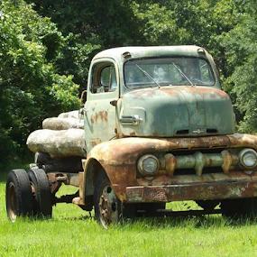 by Wesley Nesbitt - Transportation Automobiles ( old, truck, vintage, antiquetruck, rust, junk )