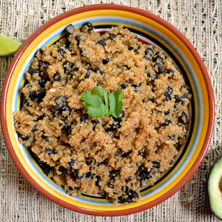 Slow Cooker Gluten Free Mexi Quinoa and Beans.