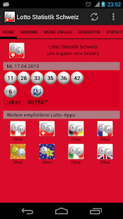 Lotto Statistik Schweiz - screenshot thumbnail