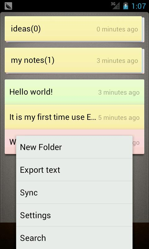 Notes- screenshot
