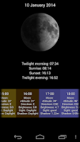 Screenshot of LunarLight Moonlight Calendar