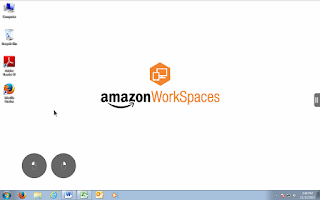 Screenshot of Amazon WorkSpaces