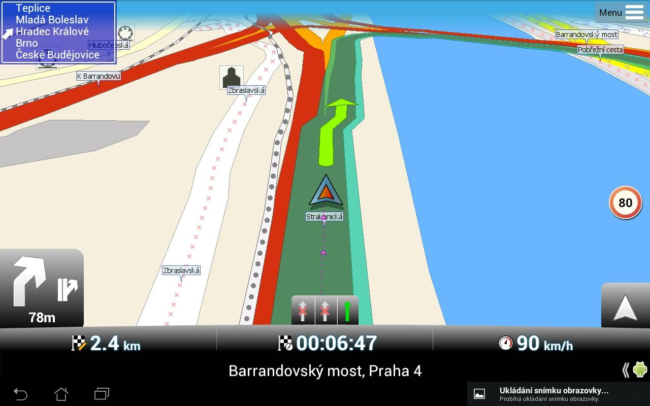 MapFactor: GPS Navigation - screenshot