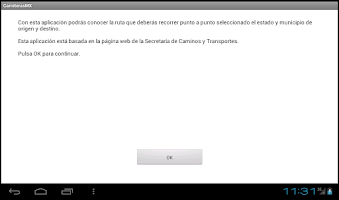 Screenshot of Carreteras México