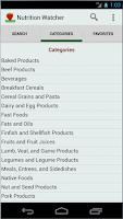 Screenshot of Nutrition Watcher Free