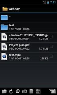 WebDAV Navigator Lite- screenshot thumbnail