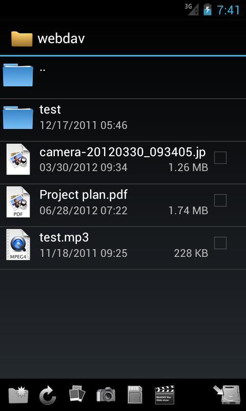 WebDAV Navigator Lite - screenshot