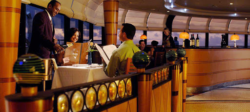 Disney-Wonder-Palo-server - Head to the specialty restaurant Palo on your Disney Wonder cruise for an intimate, adults-only dinner featuring contemporary Northern Italian cuisine. Brunch is also available on select dates on cruises lasting four days or longer.