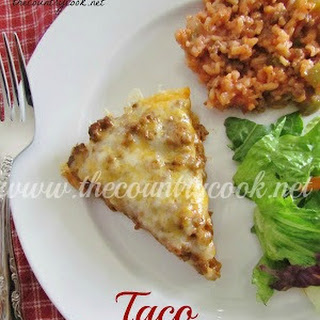 Taco Bake {Mexican Pizza}