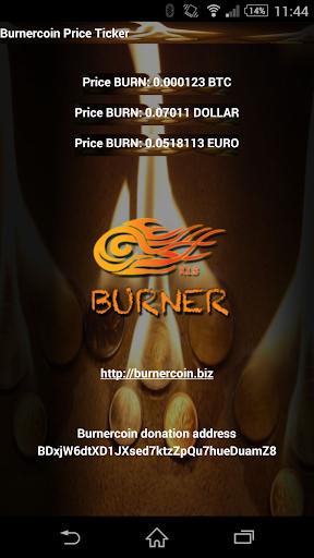 Burnercoin BURN price ticker