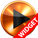 Poweramp widget - ORANGE METAL icon