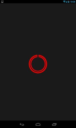 Red C-Circle Neon Clock