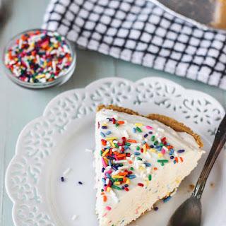 Low-Fat Funfetti Cheesecake Ice Cream Pie.