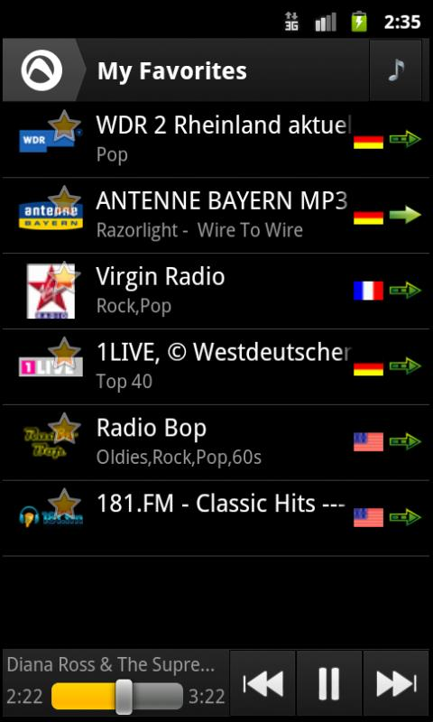 Audials Radio Player - screenshot