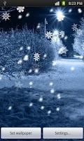 Screenshot of Snowflakes Live Wallpaper