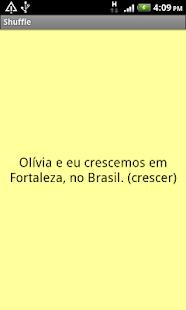 Flashcards - Portuguese, Set 2- screenshot thumbnail