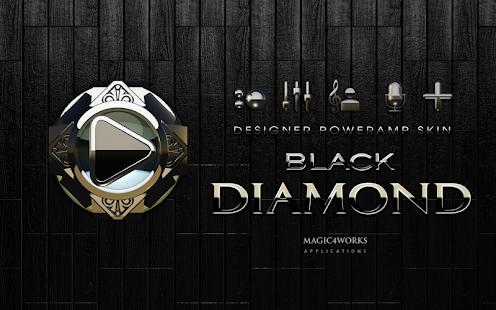 poweramp skin black diamond