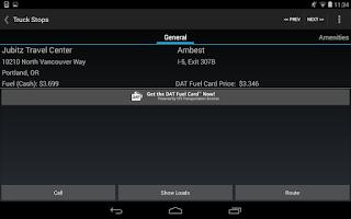 Screenshot of MyDAT Trucker