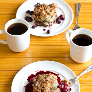 Berry Coffee Cake Recipe with Walnut Streusel